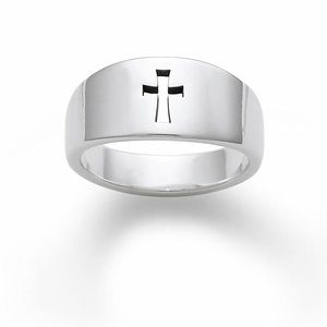🆕James Avery Sterling Silver Narrow Crosslet Ring